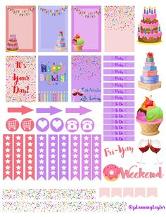 Hey everyone! In honor of my best friend's birthday I made this sticker set for her birthday week! We have been looking for the perfect sticker kit for her Happy Planner (which she just got- …