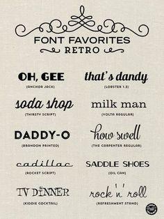 Elegance and Enchantment Font Favorites - Retro Design Fonte, Web Design, Website Design, Retro Design, 1950s Design, Type Design, Design Model, Logo Design, Tattoo Font For Men