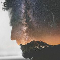 I dream to a beautiful dream  #me #portrait #dubleexposure #milkyway #vsco #photography