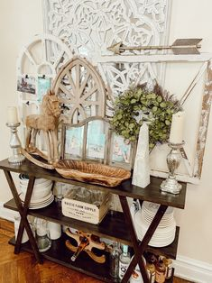 Here are some tips on Decorating a Console Table to be multifunctional.
