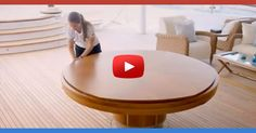 [Video] It looks like A Normal Wood Table, Then She Yanked On It And Changed It Into THIS