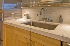 bianco gioia marblen countertops kitchen Marble Countertops, Kitchen Countertops, Sink, Home Decor, Sink Tops, Marble Counters, Vessel Sink, Decoration Home, Room Decor
