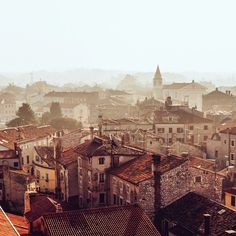 Roofs of Porec - view from Euphrasian Basilica | One of my favorite places in Croatia - like other Istrian towns it's pretty small yet cozy. Photo by Dmitri Korobtsov.