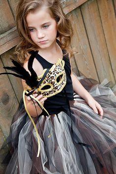 Cheetah Masquerade Tutu for Girls 610 years up by sweethearttutus, $75.00