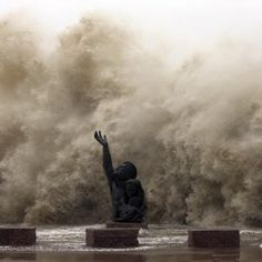 Hurricane Ike sweeps ashore in Galveston, TX-this image is in my head forever, i still see it when we go to the beach