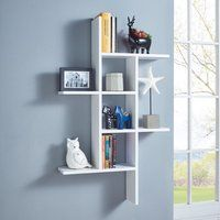 This DANYA B Cantilever White MDF Floating Wall Shelf is perfect for holding daily essentials and displaying decorative accents. Wall Shelves Design, Shelves In Bedroom, Room Decor, Decorating Shelves, Interior, Floating Wall Shelves, Cube Shelves, Wall Racks, Home Decor