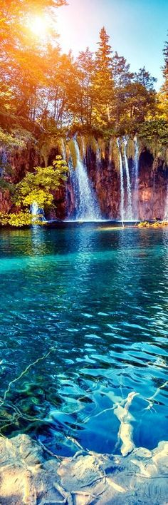 Plitvice Lakes National Park, Croatia The national park was founded in 1949 and is situated in the mountainous karst area of central Croatia, at the border to Bosnia and Herzegovina. The important north-south road connection, which passes through the national park area, connects the Croatian inland with the Adriatic coastal region.