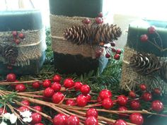 Upcycled Pillar Candle Set by SweetPumpkinsFarm on Etsy, $25.00