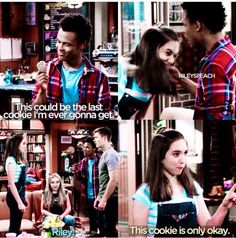 """#GirlMeetsWorld """"Girl Meets the Real World"""" (I was shocked when Riley ate Zay's cookie, especially since he said it might be his last)"""