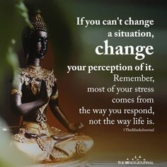 This post says it all. Be mindful of how you perceive life's challenges. Your emotions depend on how you respond to the situation. Buddhist Quotes, Spiritual Quotes, Wisdom Quotes, True Quotes, Great Quotes, Positive Quotes, Quotes To Live By, Motivational Quotes, Inspirational Quotes