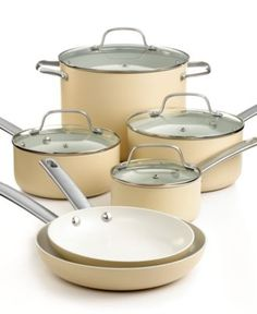 Martha Stewart Collection Ceramic Cookware, 10 Piece Set - Cookware - for the home - Macy's $179.99
