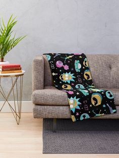"""""""Rick and Morty pattern"""" Throw Blanket by ValentinaHramov 
