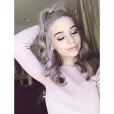Amanda Steele Everything ❤ liked on Polyvore featuring amanda steele, hair and youtubers