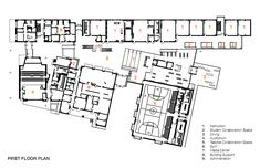 Image 17 of 20 from gallery of Kathlyn Joy Gilliam Collegiate Academy / SHW Group. First Floor Plan Education Architecture, School Architecture, Architecture Design, School Building Design, School Design, Valley College, School Plan, Academic Success, Learning Spaces