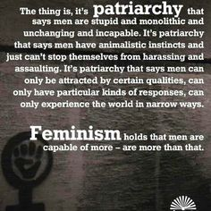 See, the problem with accusing feminists of misandry is...