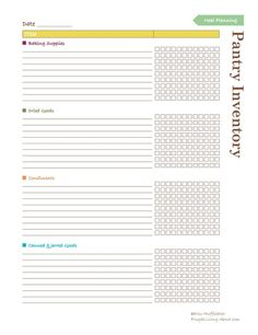 Use This Printable to Keep Up with What's in Your Pantry