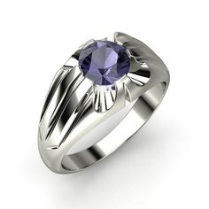 The Stellar Ring #customizable #jewelry #iolite #platinum #men's #ring
