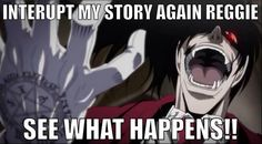 Hellsing Ultimate Abridged Quotes by SiriuslyIronic on DeviantArt – Typical Miracle Funniest Pictures Ever, Funny Pictures, Sir Integra, Hellsing Alucard, Real Vampires, Anime Rules, Stuff And Thangs, Shows, Manga Comics