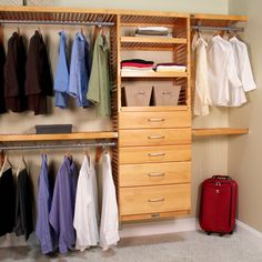 Update the look of your closet with this beautifully designed organizer by John Louis. Constructed from solid wood, this organizer features a cabinet and five drawers. This closet organizer fits space Reach In Closet, Closet Space, Master Closet, Closet Bedroom, Master Bedroom, Closet Redo, Master Suite, Closet Doors, Cheap Closet