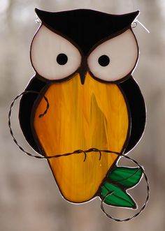 Stained Glass Owl by theglassmenagerie on Etsy https://www.etsy.com/ca/listing/98792158/stained-glass-owl