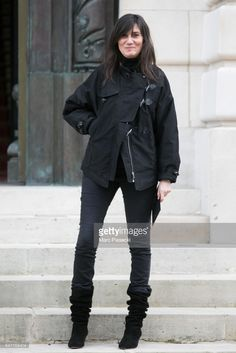 Emmanuelle Alt attends the Balmain show as part of the Paris Fashion Week Womenswear Fall/Winter 2017/2018 on March 2, 2017 in Paris, France.