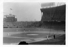 A snapshot taken during the National Anthem at Cleveland Municipal Stadium on 17 September 1955.  Rocky had made his major league debut exactly one week earlier, in Boston, on 10 September.