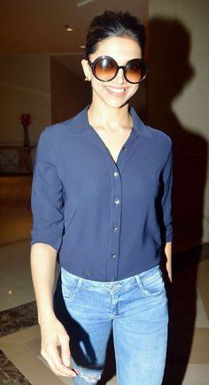 Deepika Padukone at a promotional event for Piku.