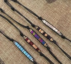 Mini Ladder bracelets - come to the studio to learn how to make these fun little bracelets.