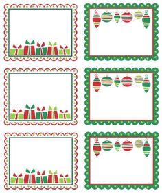 christmas address labels free