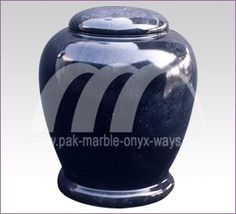 Pak Marble Onyx Ways - JET BLACK URN