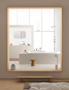 picture frame bathroom. The Bouroullec Brothers for AXOR