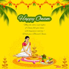 May the vibrant colors of #Onam fill your life with happiness and Joy! #HappyOnam