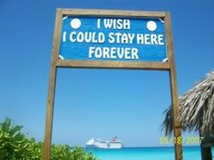 Not necessarily Half Moon Cay, but anywhere the sky and water are this blue, and anywhere there is a ship in the distance that I am currently cruising on. Beach Bum, Ocean Beach, I Love The Beach, Beach Quotes, All I Ever Wanted, Beach Signs, Island Girl, Vacation Spots, Cruise Vacation