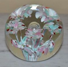 """""""vintage paperweight"""" in All Categories Blue Yellow, Red And Blue, Blue And White, Purple, Vintage Pink, Vintage Art, Green Bubble, Bubble Art, Glass Paperweights"""