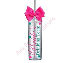 Skinny Brides Drinking Team Bachelorette Tumbler-great personalized addition for your upcoming bachelorette party! Each tumbler is 16oz,
