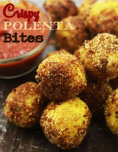 Crispy polenta bites (vegan + gluten free) recipes to cook в Gf Recipes, Gluten Free Recipes, Whole Food Recipes, Vegetarian Recipes, Cooking Recipes, Polenta Recipes, Vegan Foods, Vegan Snacks, Vegan Dishes