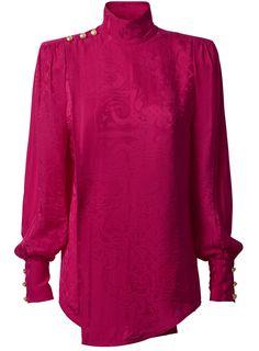 Pre-owned Balmain X H&m Cerise Jacquard-weave Silk Top Off One Shoulder Tops, One Shoulder Shirt, Vanity Fair, H&m Collaboration, Vogue Portugal, Mini Robes, H&m Women, Mini Vestidos, Lookbook