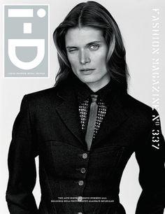 i-D 35th Birthday Issue: Photography Alasdair McLellan. Styling Jane How. Malgosia wears jacket Alaïa. Body vintage Alaïa from Strut Archive. Tie Saint Laurent by Hedi Slimane