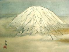 富士 (Fuji), by 橋本関雪 Kansetsu Hashimoto -- http://www.nagaragawagarou.com/visualmuseum/m-kansetu.html