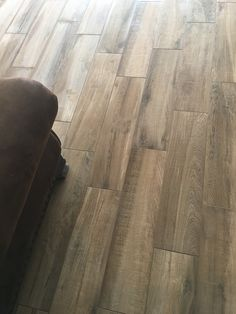 Coastal Farmhouse flooring. Wood look tile 8x32. Arizona Tile: Aequa Tur Grout: Khaki Picture provided by Client of Matisse Realty. We love seeing your home improvements! Thank you.