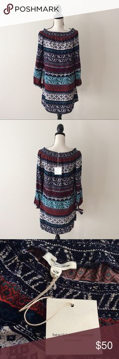 Beach Lunch Lounge Off Shoulder Boho Mae Dress # In excellent condition.New with Tags. Beach Lunch Lounge Dresses