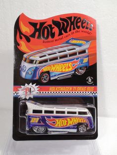 2013 HOT WHEELS RLC VOLKSWAGEN T1 DRAG BUS SOLD OUT #1870 / 4000