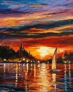 CASTLE BY THE SEA - AFREMOV by Leonidafremov.deviantart.com on @deviantART