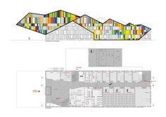 Academie MWD Dilbeek  | Carlos Arroyo | dynamic facade | elevation+floor 0