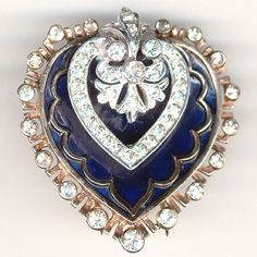 DeRosa Heart Pin late 40's