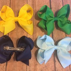 Custom ordered hair bows! Most my bows are made with alligator clips but you can order them with french clips well! I always try to make my customers wishes come true! #bowtifulblessings #bbgifts #etsy #etsyseller #etsyshop #etsyusa #customorder #custom #customize #babygirl #babyfashion #fall #fallyall #fallhairbow #fallfashion #smallbusinesslove #smallshop #entrepreneur #handmade #solid #hairbow #bows #hairclips #boutiquebows #happycustomers