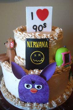 90's themed fondant decorations on Etsy, $100.00