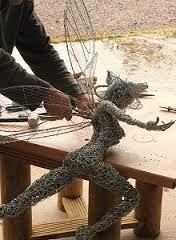 chicken wirefaireys sculpture - Google Search