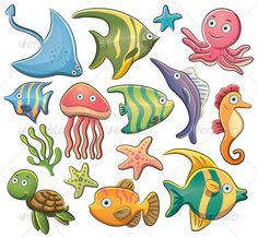 ausmal bild fische - auch für erwachsene  fish coloring page - for kids  grown ups | ideen