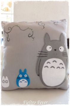 Totoro Totoro cushion My Neighbor Totoro by FieltroFever on Etsy, €18.00